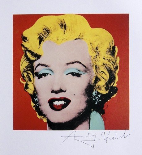 """ANDY WARHOL, """"Shot Red Marilyn"""" signed Print, 1982"""