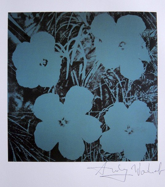 "ANDY WARHOL, ""Ten-Foot Flowers"" signed Print, 1982"