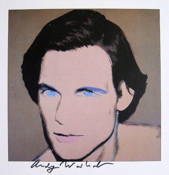 "ANDY WARHOL, Signed Print ""Portraits - Joe Macdonald"""