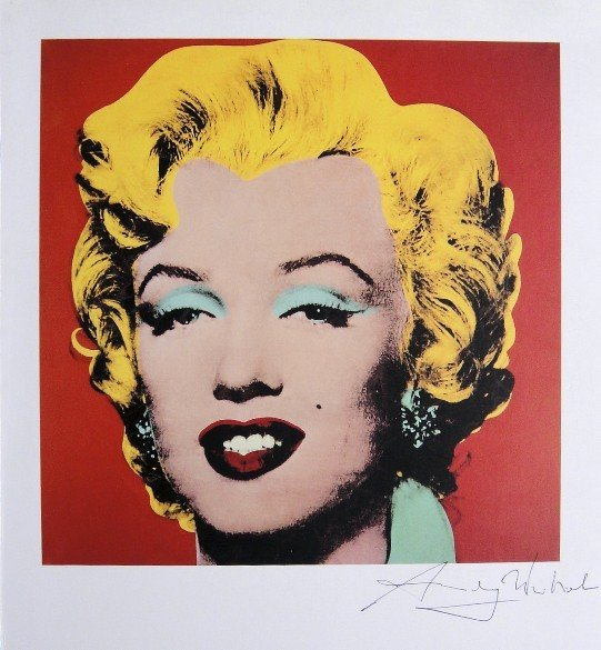 "ANDY WARHOL, ""Marilyn Monroe"" signed Print, 1982"