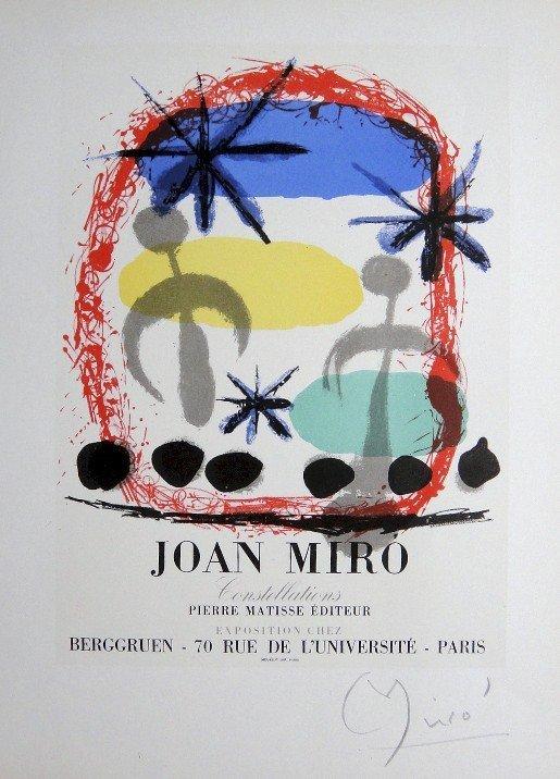 Joan Miro Lithograph Ecole de Paris 1952