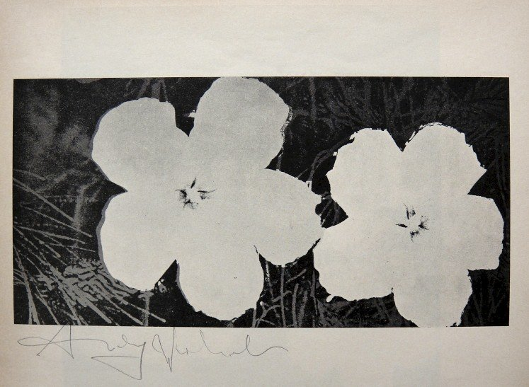"""ANDY WARHOL, Signed offset Print """"Flowers"""", 1965"""