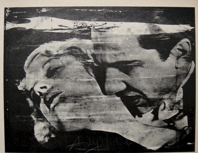 """ANDY WARHOL, Signed offset Print """"The Kiss"""", 1965"""