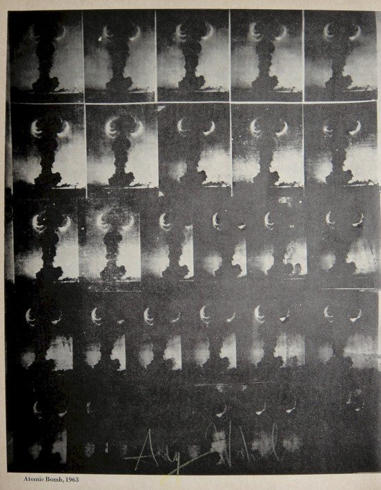 """ANDY WARHOL, Signed offset Print """"Atomic Bomb"""", 1965"""