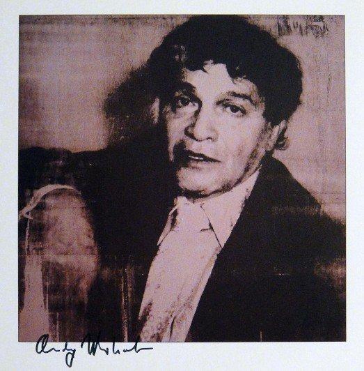 "ANDY WARHOL, Signed Print ""Portraits - Alexandre Iolas"""
