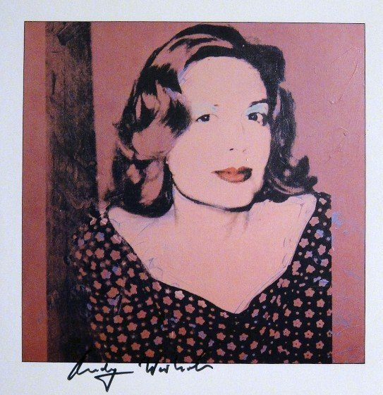 """ANDY WARHOL, Signed Print """"Portraits - Sao Schlumberger"""