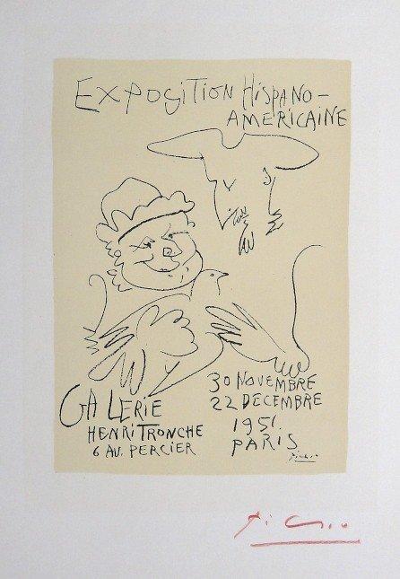Pablo Picasso Lithograph Ecole de Paris 1958