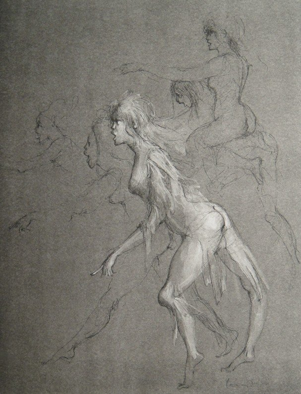Leonor FINI, signed original Lithograph 1973