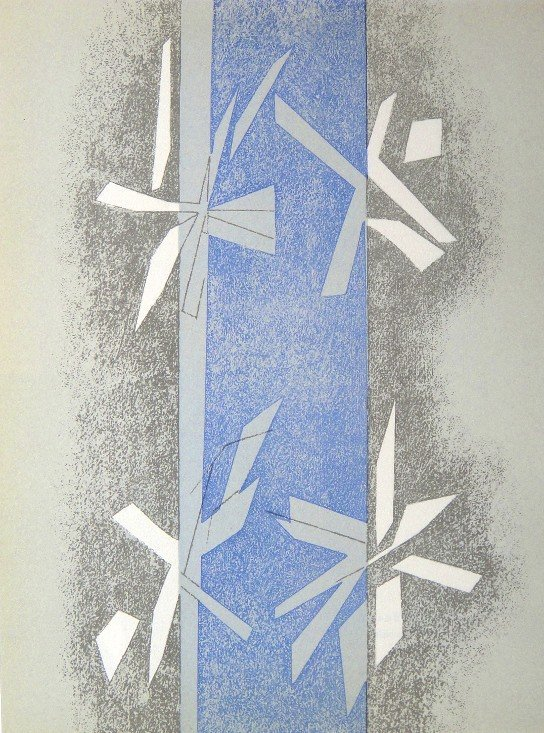 """Andre BEAUDIN, original Lithograph """"Composition"""" 1963"""