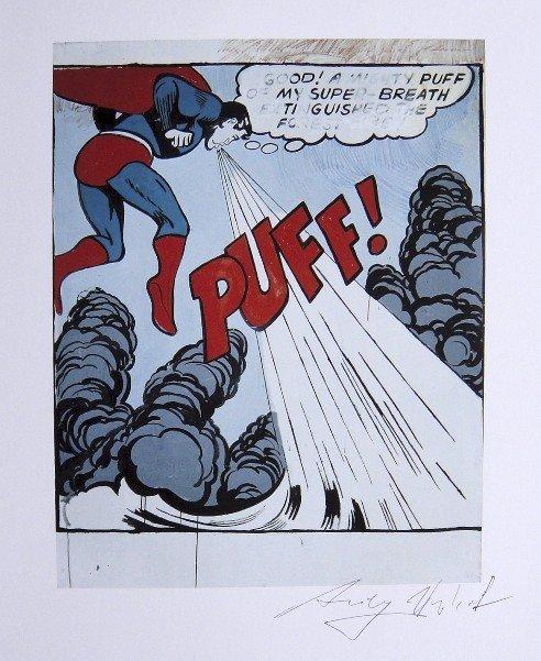 "ANDY WARHOL, ""Superman"" signed Print, 1982"