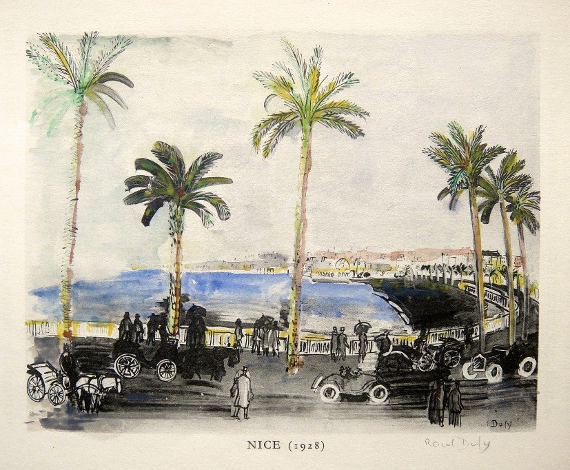 "Raoul DUFY, signed original Lithograph ""Nice"", 1930"