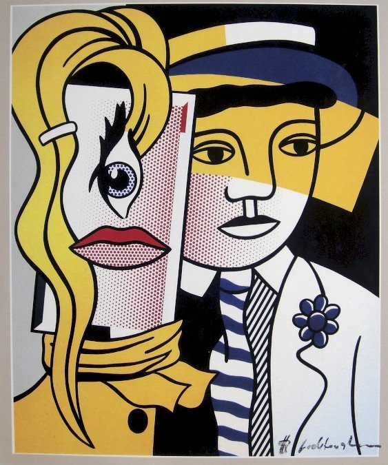 ROY LICHTENSTEIN, Signed Print, Stepping Out