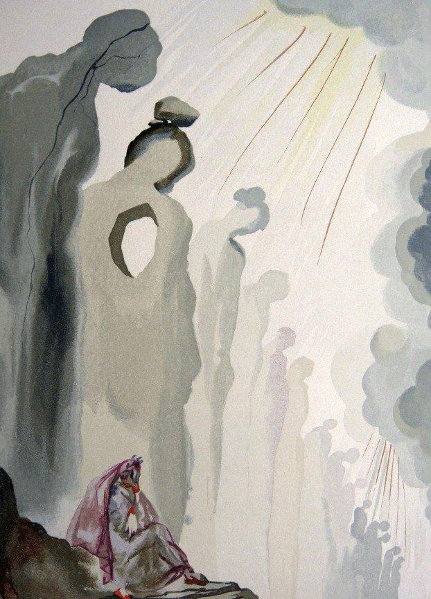Salvador DALI, Woodcut - The Divine Comedy