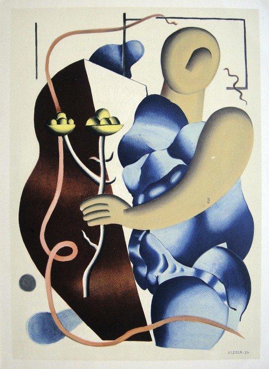 Fernand LŽger, original Lithograph, 1952