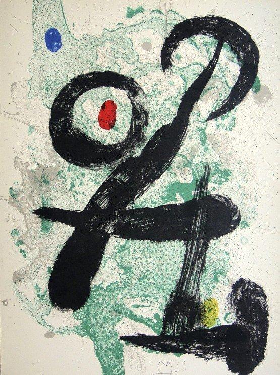 Joan MIRO, hand signed original Lithograph, 1959
