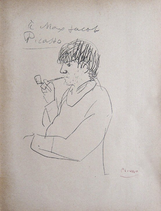 Pablo Picasso, signed eaching Print 1921