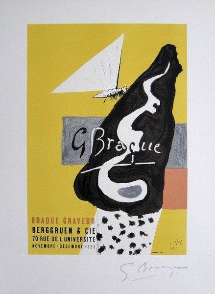 Georges Braque Lithograph Ecole de Paris 1958