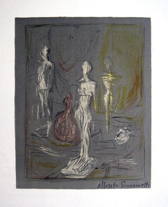 Alberto Giacometti, original Lithograph, 1954