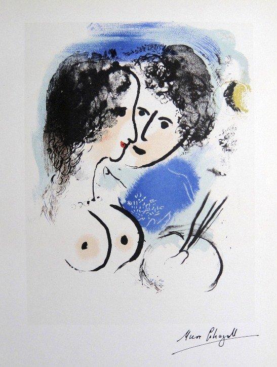 """Marc CHAGALL, """"Le Peintre ˆ la PaletteÓ Lithograph 1960"""