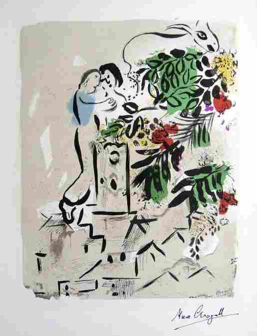 """Marc CHAGALL, """"Affiche pour la Ville de VenceÓ"""