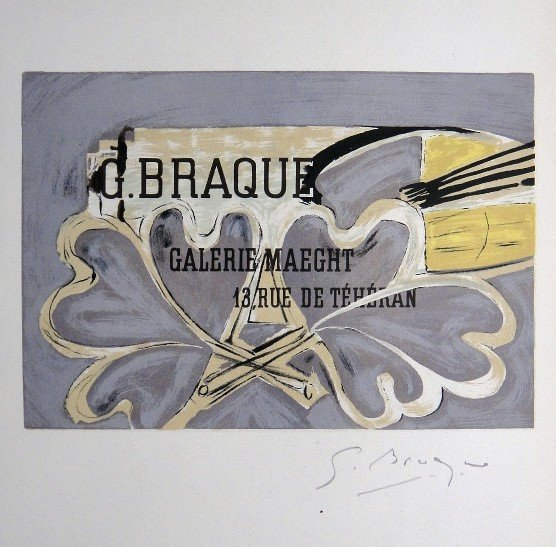 Georges Braque Lithograph Ecole de Paris 1958