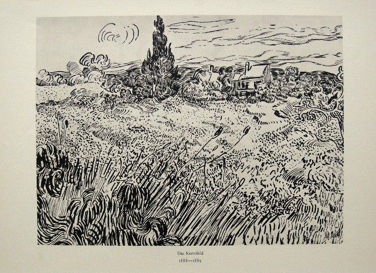 Vincent VAN GOGH, ÒDas KornfeldÓ Lithograph 1947