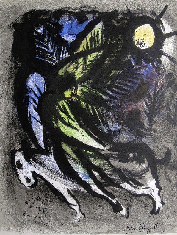 Marc CHAGALL, L'Ange original Lithograph 1960