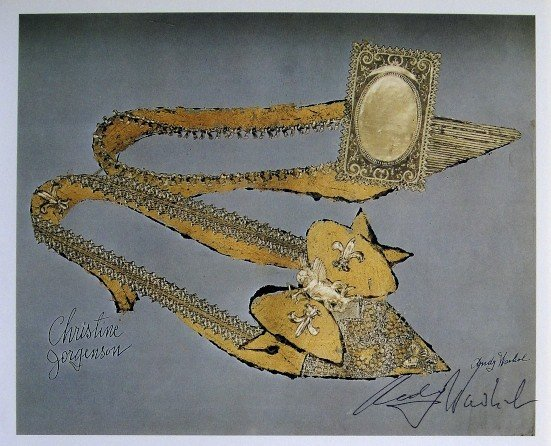 ANDY WARHOL, Signed Print Shoes, 1982