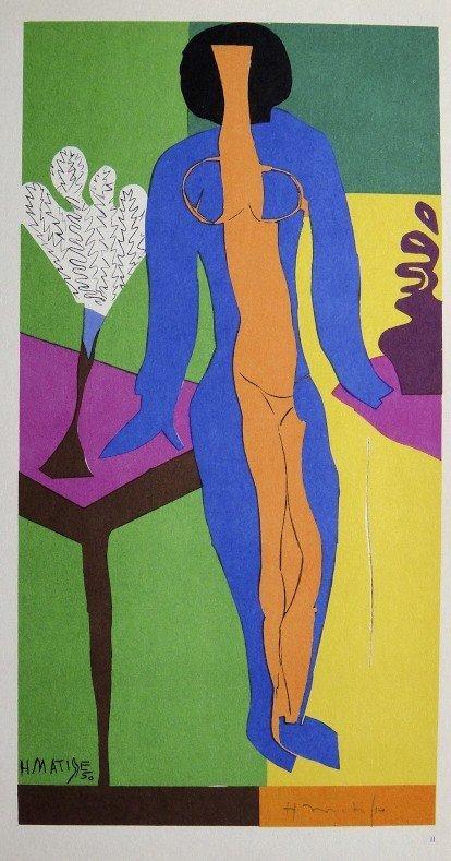 "Henri Matisse ""Debout Nu"" signed original Lithograph"