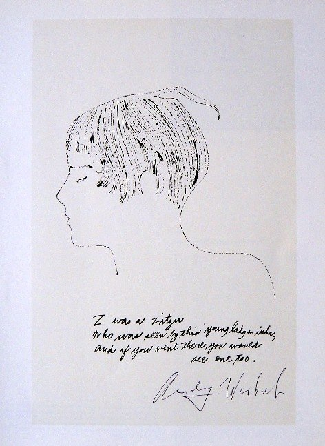 ANDY WARHOL, Signed Print Z was a ..., 1982