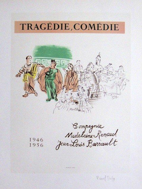 Raoul Dufy Lithograph Ecole de Paris 1952