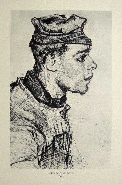 Vincent VAN GOGH, Kopf eines jungen Bauern, Lithograph