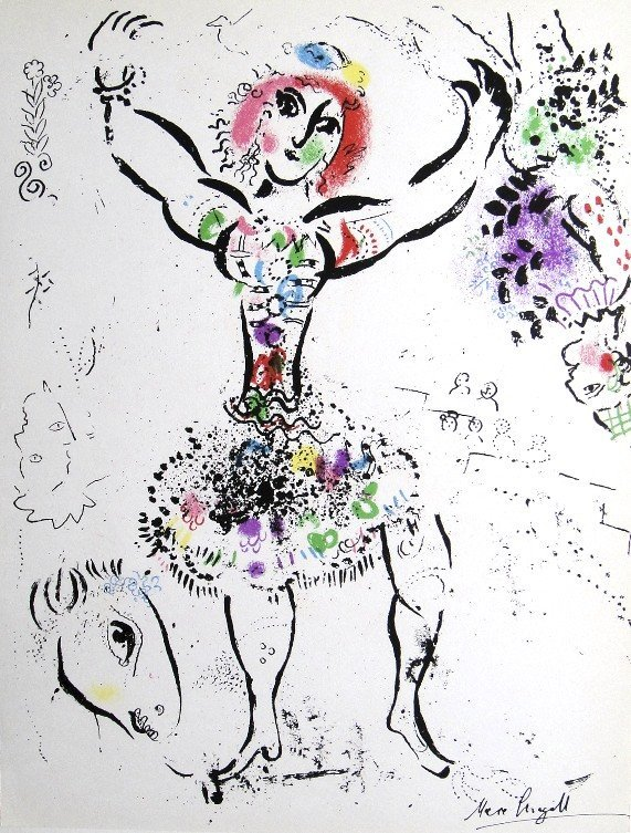 Marc CHAGALL, La Jongleuse original Lithograph 1960
