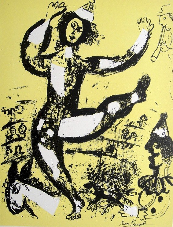 """Marc CHAGALL, """"Le CirqueÓ original Lithograph 1960"""