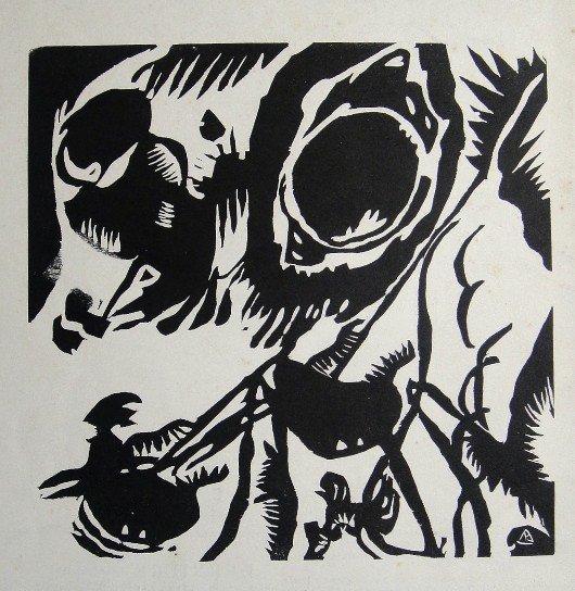 Wassily Kandinsky, Lithograph, 1955
