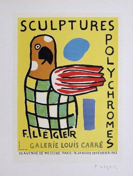Fernand Leger Lithograph Ecole de Paris 1952