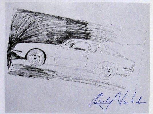 Andy Warhol, signed Print, Car, 1976