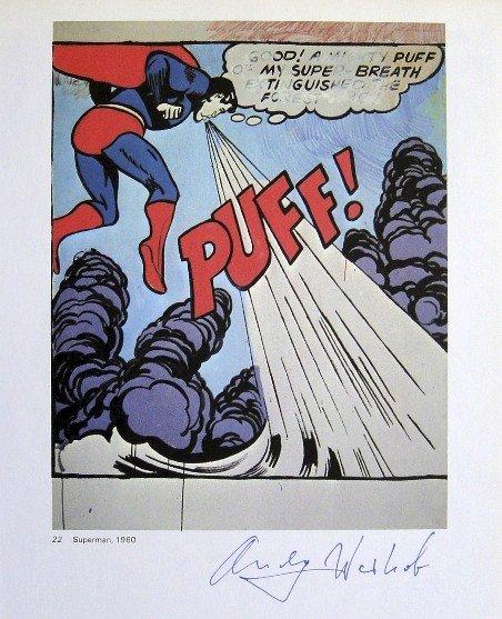Andy Warhol, signed Print, Superman, 1976