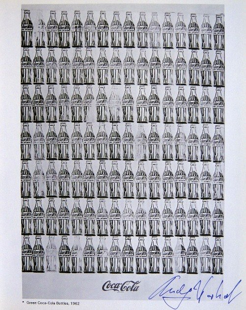 Andy Warhol, signed Print, Green Coca-Cola Bottles 1976