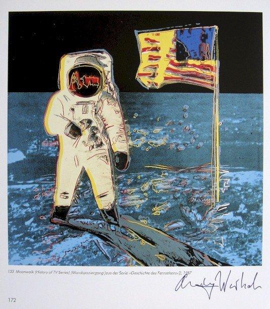 Andy Warhol, signed Print, Moonwalk, 1986