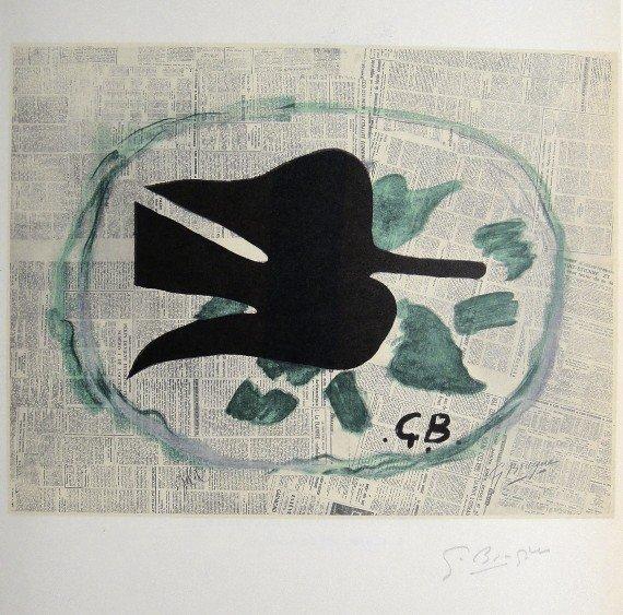 Georges Braque Lithograph Ecole de Paris 1952