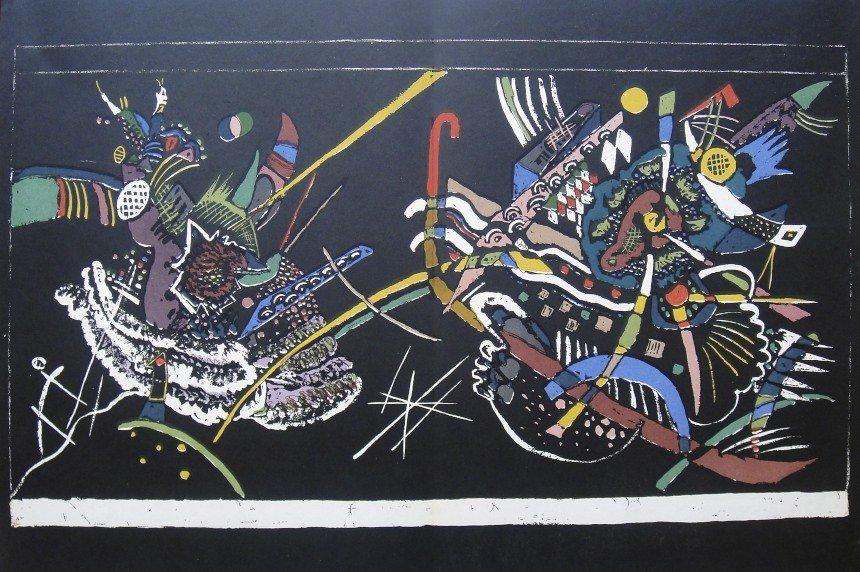 Wassily Kandinsky, original Lithograph, 1954
