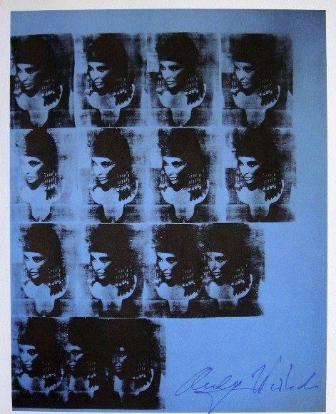 Andy Warhol, signed Print, Blue Liz as Cleopatra, 1976