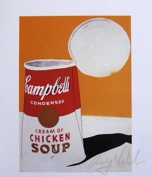 Andy Warhol, signed Print, Campbell's Soup Can, 1963