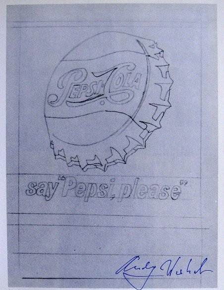 """Andy Warhol, signed Print, Say """" Pepsi, please """", 1976"""