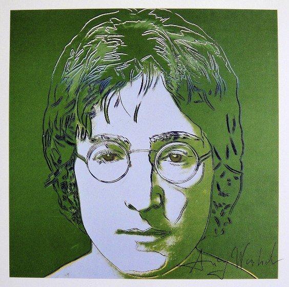 Andy Warhol, signed Print, John Lennon, 1986