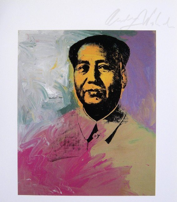 Andy Warhol, signed Print, Mao, 1963