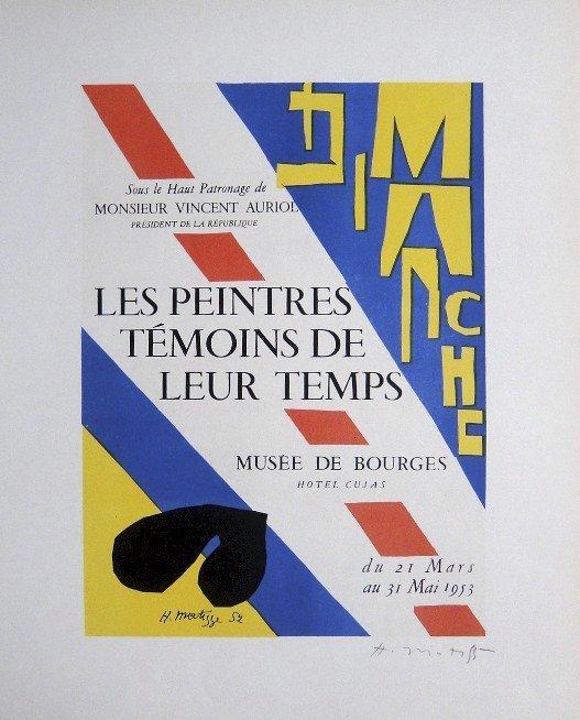 Henri MATISSE Lithograph Ecole de Paris 1952
