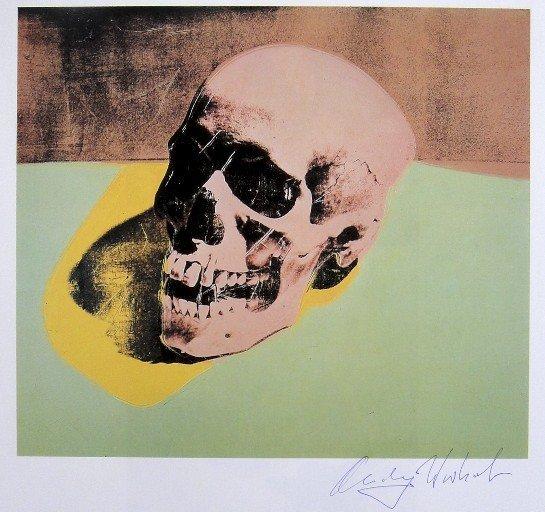 Andy Warhol, signed Print, Skull, 1982