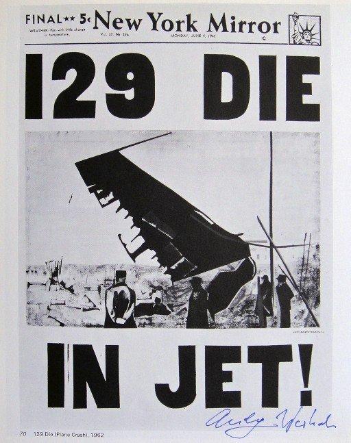 Andy Warhol, signed Print, 129 DIE IN JET, 1976